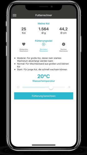 Nutramare Koi-Futterrechner für Android und iOS