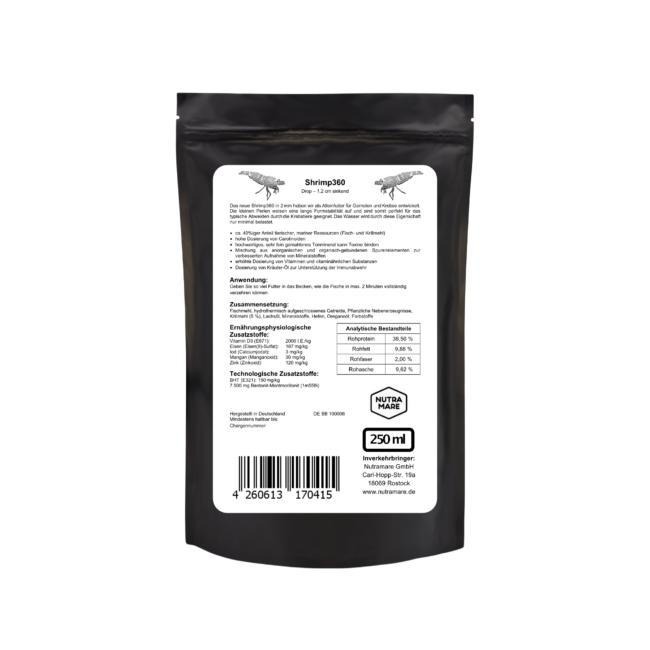 Garnelen- und Krebsfutter Nutramare Shrimp360 250ml